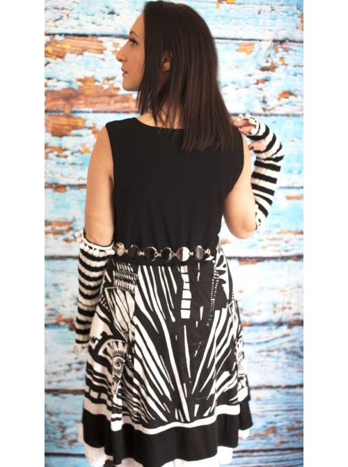 robe graphique noire & blanche